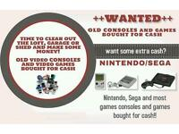 Wanted Nintendo Sega gameboys ps1 dreamcast retro games and toys
