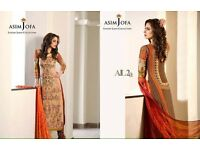 100% OROGINAL ASIM JOFA luxury Eid collection 2016 heavy embroidered UNSTITCHED wow deal