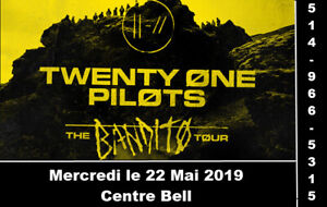 Twenty one Pilots, 22/05/2019, Centre Bell, Section Rouge 124-M