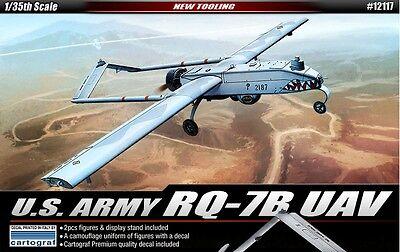 Academy 1/35 US Army RQ-7B UAV w/ 2 Figures+Stand Cartograf Decal 12117 NIB