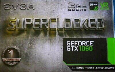 EVGA GeForce GTX 1060 SC Gaming GDDR5 Graphics Card
