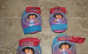 Girls' bike protective pads - Dora theme; for 4-9yrs old