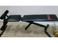 York Fitness 2in1 adjustable bench with ab curl