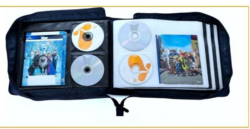 S. LATTYE DVD CD Storage Case with Extra Wide Title Cover Pages for Blu Ray CD