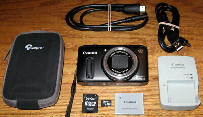 Canon PowerShot SX260 HS 12.1MP 20x Optical Zoom UGC Black Guarantee Please Read