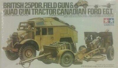 (Tamiya 1/35 scale British 25pdr. Field gun & Quad tractor (Canadian Ford F.G.T.))