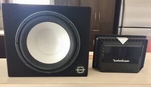 """ROCKFORD FOSGATE T400-2 AMP & 10"""" INFINITY SUBWOOFER IN BOX"""