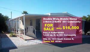 2 Bdrm Fully Furnished Double-Wide Mobile for Sale in Yuma, AZ