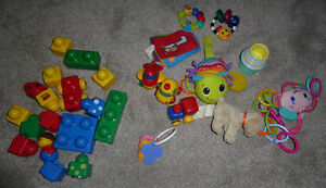 2 lots of baby toys $ 5 eac