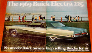 ANONCE 1969 BUICK ELECTRA 22 HARDTOP SEDAN COOL VINTAGE AD - 60S