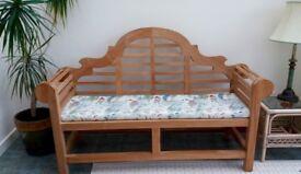 Lutyens teak bench