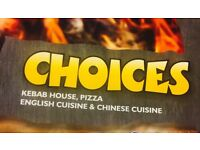 Choices Fish bar STAFF Required