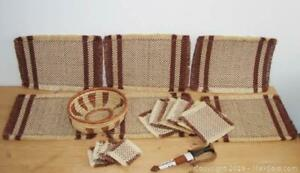 Vintage African Place Settings Decor Placemats Coasters B