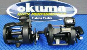 NEW Okuma Magda MA 45D Line Counter Trolling Reel with Star Drag 2 PACK! Condtion: New, Box does not belong to product