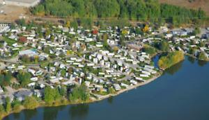 Large RV Lot for rent in luxury RV Resort in Kelowna