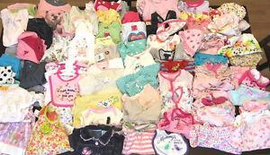 Lot de 80 morceaux - vêtements bébé fille