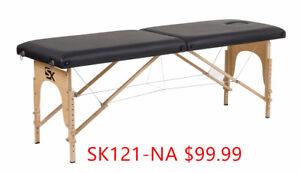SK 2 section wooden portable massage table for $115.99