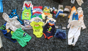 Huge lot of size 3-6 months baby boy clothes