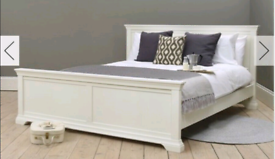 White double bed and matress as new
