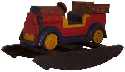 Kinder Holzschaukel Wippe Schaukel Lieferwagen Holz Massiv Asia Möbel China 83cm