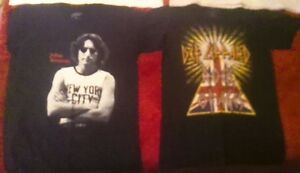 The Beatles, Post-Beatles and Def Leppard T-Shirts