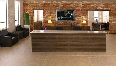 New Amber U-shape Receptionreceptionist Office Desk Shell With Glass Counter