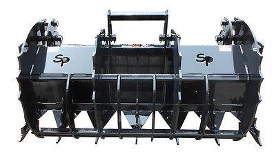 72 6 Grapple Rake Skid Steer Attachment Bobcat John Deere Kubota Takeuchi