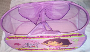 Large Dora Mesh 2 Compartment Laundry or Toy Bag / Basket Zipper London Ontario image 3