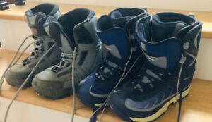 Snowboarding boots hardly used