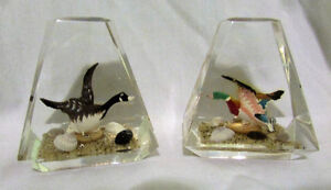 Vintage Pair of Goose & Duck Lucite Acrylic Paperweights Kitchener / Waterloo Kitchener Area image 6