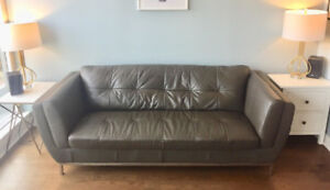 Faux Leather Couch - Structube - 9/10 Condition - Comfy, Durable