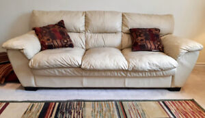 Rodero - Pebble All Leather Sofa and Loveseat from Leon's