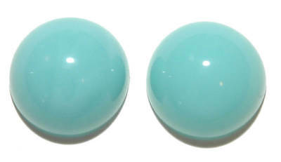 Blue Gem Earrings (PALE TURQUOISE BLUE ACRYLIC ROUND GEM STUD EARRINGS (S067) )