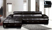 $999 - Sectional living-room set  Black