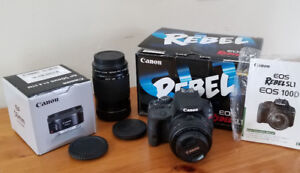 Canon package deal - SL1 100D with two lenses