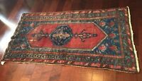Antique handmade Hamadan rug