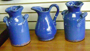 Beautiful Blue Ceramic Urns for your Home or Garden