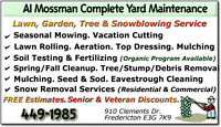 LAWN MOWING, SPRING CLEANUP, LANDSCAPING SERVICES