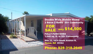 Furnished 2 Bedroom Mobile for Sale in Yuma, AZ