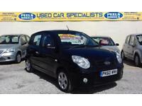 2010 (60) KIA PICANTO DOMINO BLACK 1.1 * AUTOMATIC * FINANCE AVAILABLE *