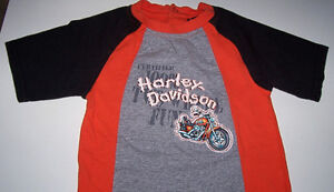 Harley Davidson Size 24 Months T Shirt and Shorts Set London Ontario image 2