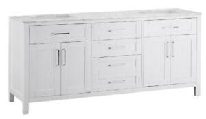 Ove Decors 72-in Tahoe Double Vanity White - New in Box