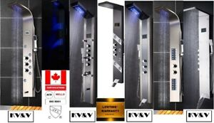 KV&V shower panel tower column systems of EXCEPTIONAL quality