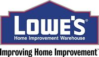 Lowe's is NOW HIRING!