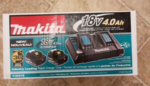 Brand New Makita 2 port charger with 2 4.0ah batteries