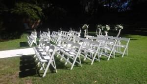 White Americana gladiator chair Hire