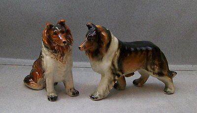 COLLIE DOG SALT & PEPPER SHAKERS VI CB 3B 416