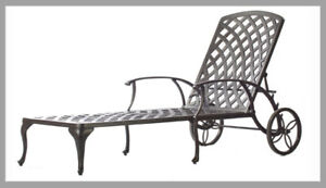 CLEARANCE!!! Cast Aluminum Patio Furniture Chaise Loungers