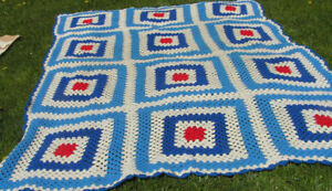large Crocheted Bed /Sofa Coverlet