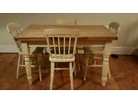Lovely rustic table with 4 chairs (free local delivery)